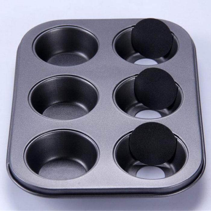 Loose Base Cupcake Muffin Baking Metal Mold Optional 6 Cups Cavities Muffin Pan Nonstick Mold
