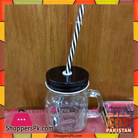 Mason Jar with Straw BN2