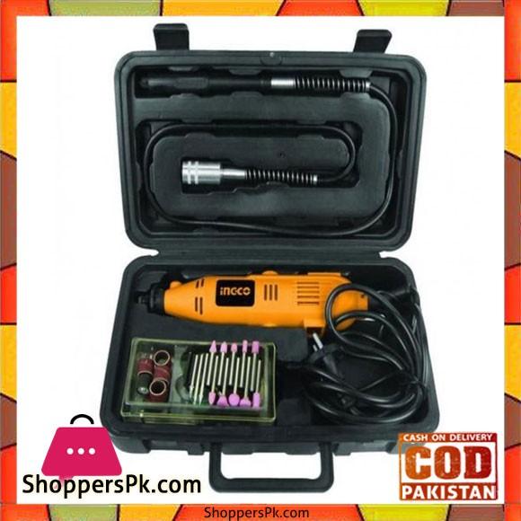 Mini Drill Kit 130W + 52 Pcs Accessories - Black
