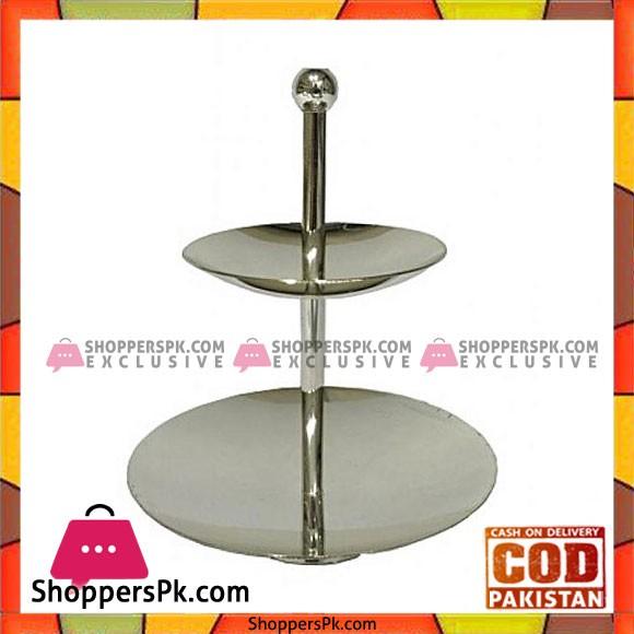 Orchid 2 Tier Silver Polish Dish- CD-5641