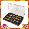 Pack Of 6 Precision Screwdriver Set - Black And Yellow