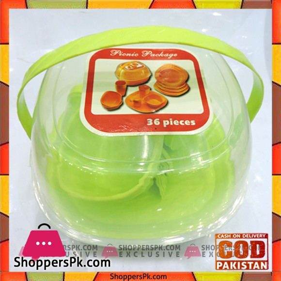 Picnic Package Set Green 36 Pieces