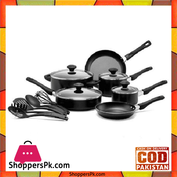 Non Stick Kitchen Set With Price: Buy Prestige 15 Pieces Non-Stick Cooking Set 20344 At Best
