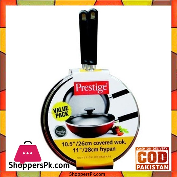 Prestige Classique Wok And Fry Pan Set