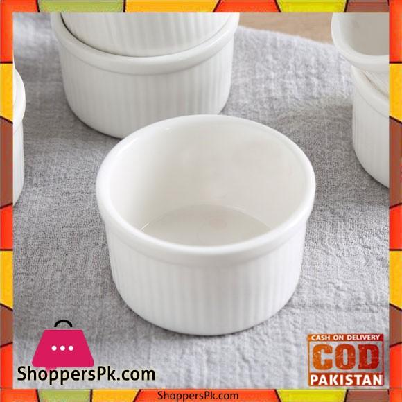 3 Inch Set of 6 Porcelain Ramekin Set