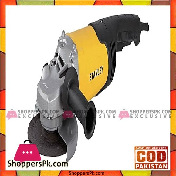 Stanley Angle Grinder 5'' 125Mm 1400W Long Handle Stanley - Yellow