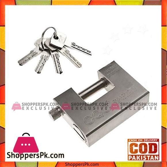 Steel Padlock - 84mm - Silver