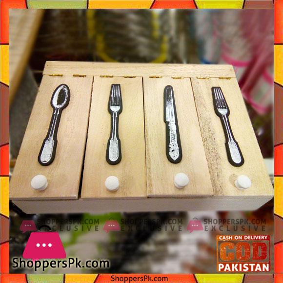 Stylish Wooden Cutlury box