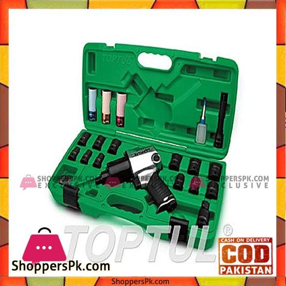 TOPTUL Impact Wrench Set 27PCS 1/2'' DR. (Standard Anvil) TOPTUL GDAI2701
