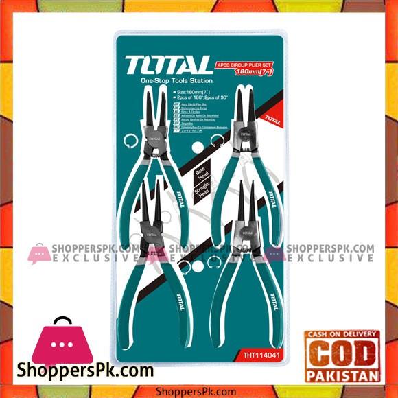 Total Tht114041 4Pcs Circlip Plier Set-Green