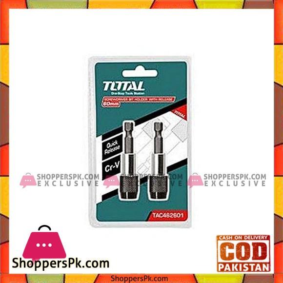 Total Tac461601 Screwdriver Bit Holder-Black