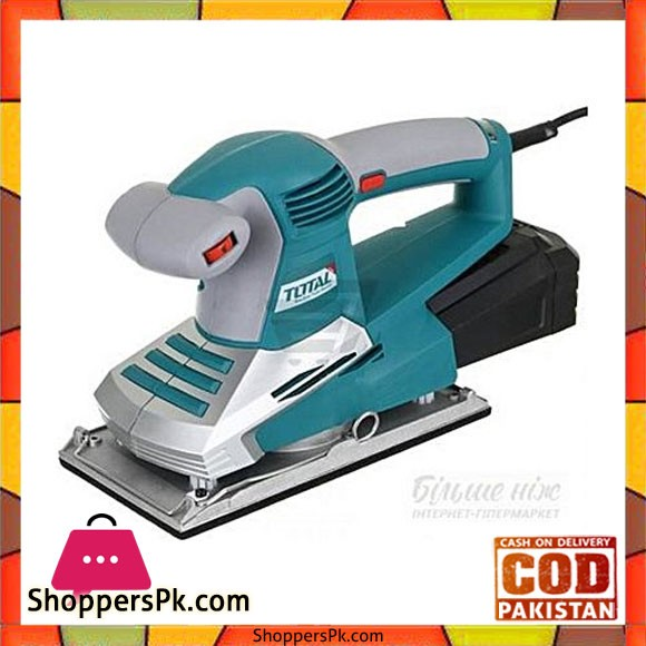Total Tf1032301 Finishing Sander 350W-Sea Green & Grey