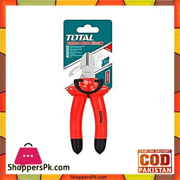 Total Thtip261 Insulated Diagonal Cutting Plier 6''-Red