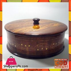 Wooden-Brass-Work-Roti-Box-14-Inch-Price-in-Pakistan