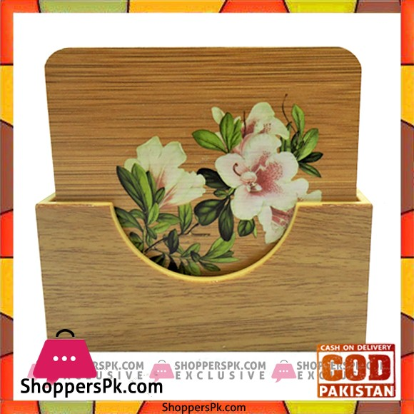 Bamboo Tea Coaster with Stand BK2