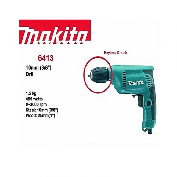 MAKITA 6413 - Drill Machine - 10mm - Blue