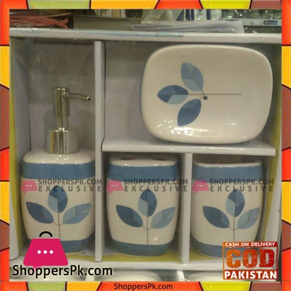 4 Pcs Ceramic Bathroom Set