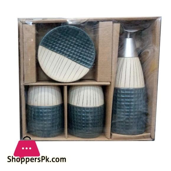 4Pcs Ceramic Bathroom Set