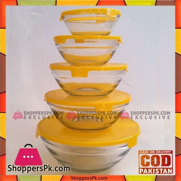 5 Pcs Bowl Set Yellow