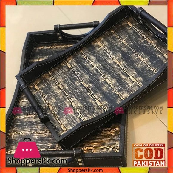 Classical Leather Tray 2 Pcs