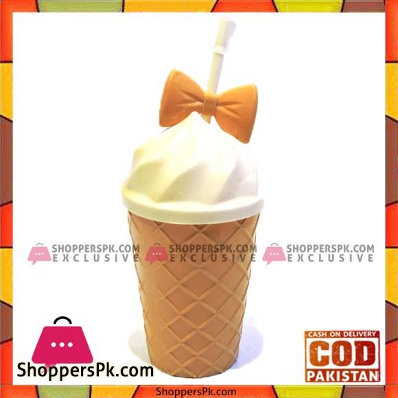 Cone Milkshake Glasses With Straw 550ML Capacity