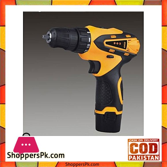 Dawer Cordless/Wireless Drill Machine - Yellow & Black