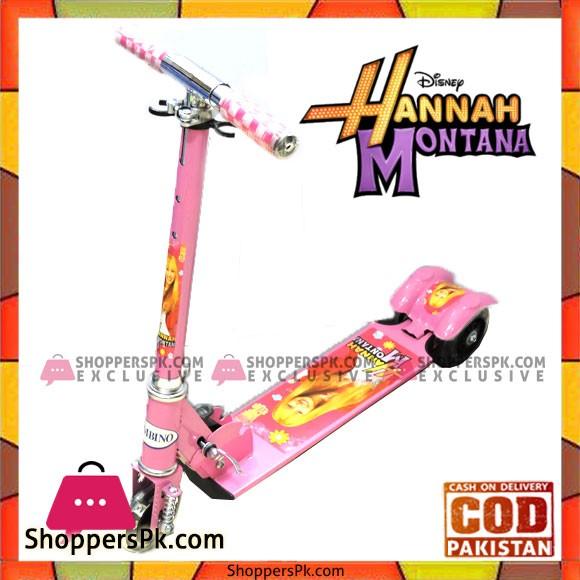 Disney Hannah Montana Black Flashing Wheel Scooty For Kids 3 to 10 Years Kids