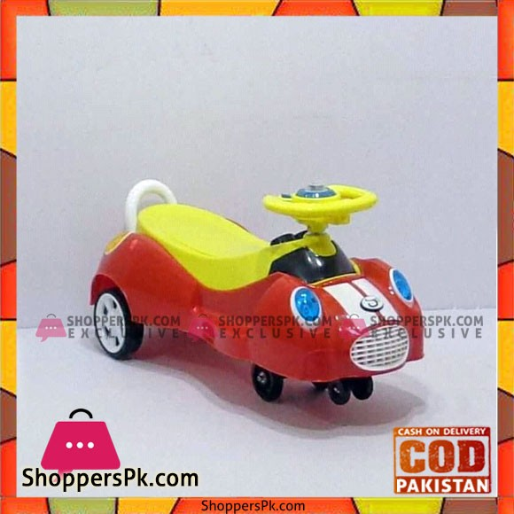Dolphin Swing Car with Light Music Steering Drive