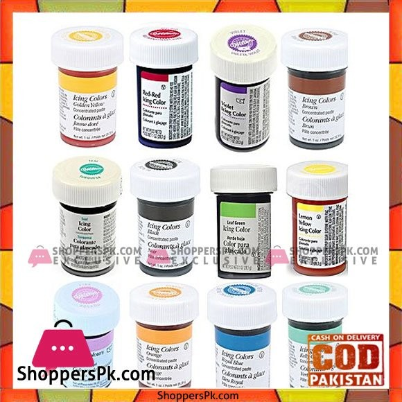 Pearce Duff Pack Of 12 Gel Icing Food Colours