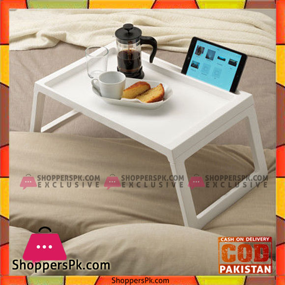 Buy Plastic Breakfast Bed Tray Table With Ipad Holder At