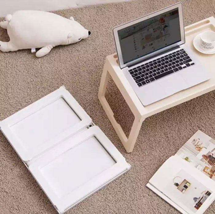 Ikea KLIPSK Plastic Breakfast Bed Tray Table with iPad Holder