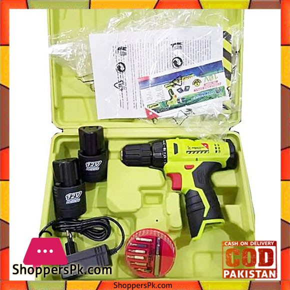 Prescott Cordless Drill With 2 Pcs Battery 12V