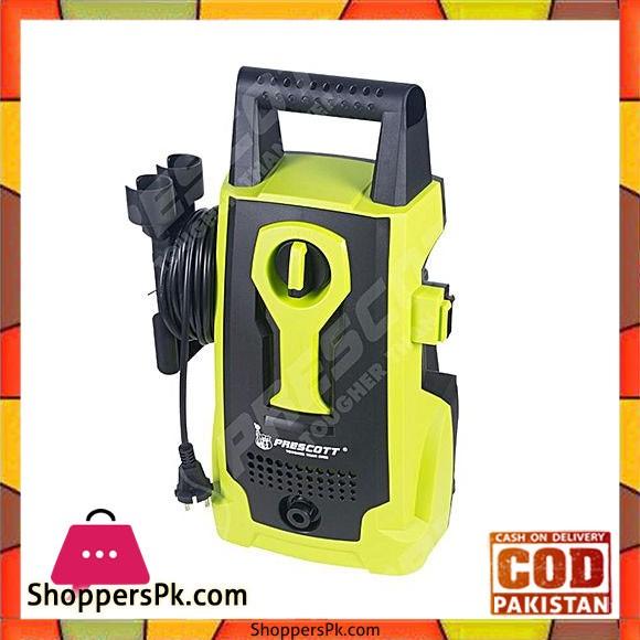 Prescott P-JW14 - Electric High Pressure Washer With Foam Spray - Yellow