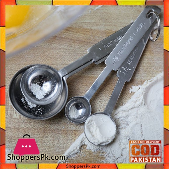 Stainless Steel Measuring Spoons 4 - Piece Set