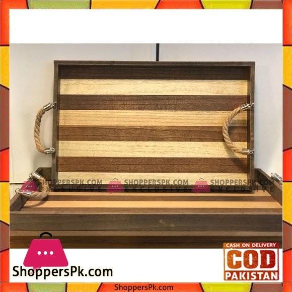 Wood Tray Set 2 Pcs