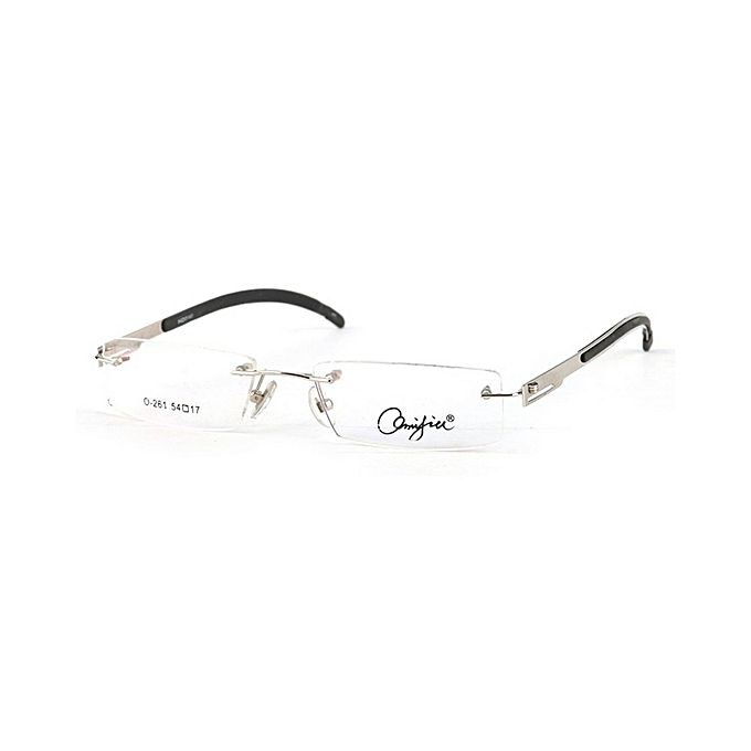 d469387eff4 Buy Rimless Optical Frames 122819 Eyewear For Men-Silver at Best ...