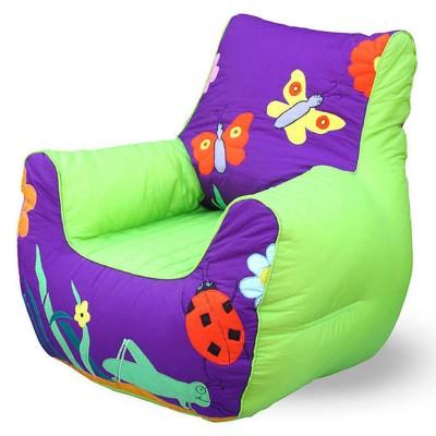 Relaxsit Purple Garden Bean Bag Sofa for Kids