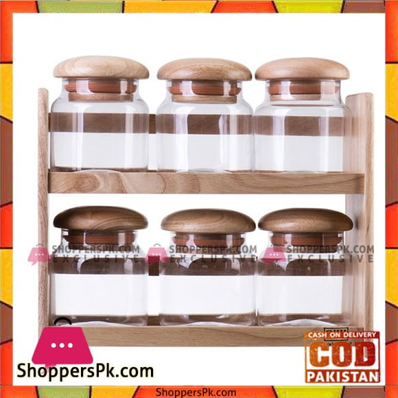 Billi High Quality 2 Layer Wooden Canister Set - GW5566 Thailand Made