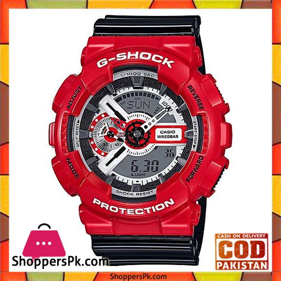 5f46cfb8e2c Casio – G Shock Black   Red G Shock Quartz Watch for Men – GA-110RD-4ADR