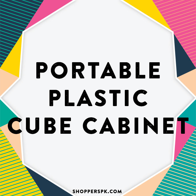 Portable Plastic Cube Cabinet in Pakistan