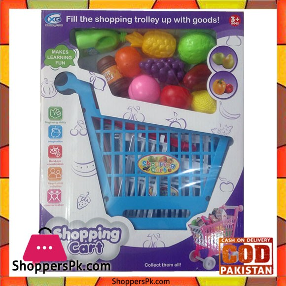 Shopping Trolley with Vegetables For Kids