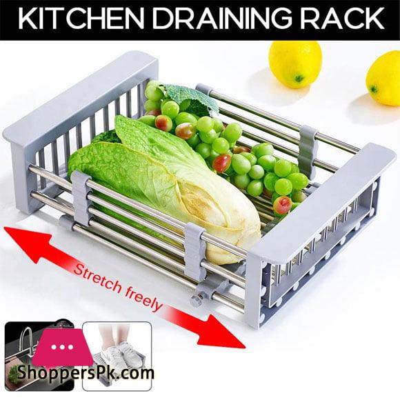 Stainless Steel Sink Rack Roll Folding Drain Rack