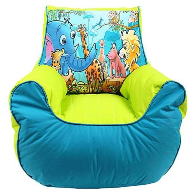 Relaxsit Multicolor Jungle Bean Bag Sofa for Kids