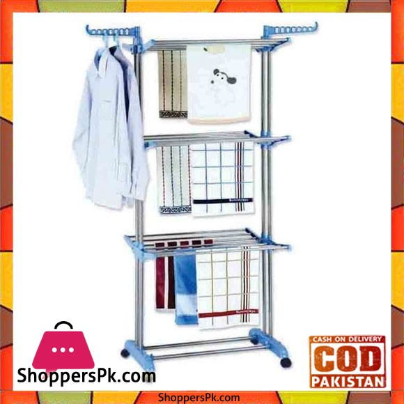 3 Tier Foldable Drying Rack Cloth Laundry Hanger Steel TW-117