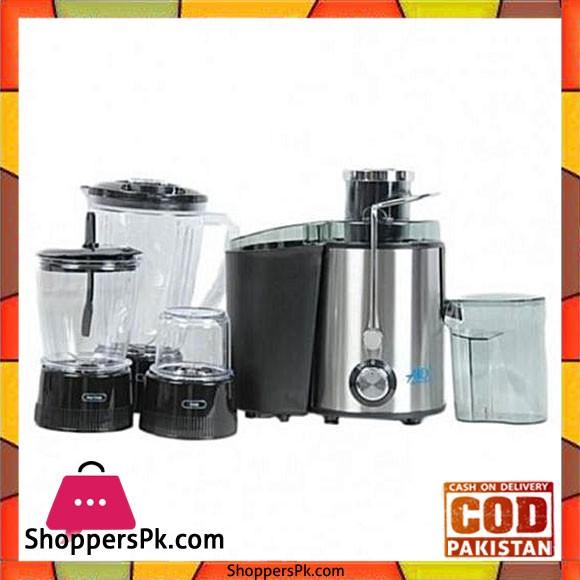 Anex AG-174 - Deluxe Juicer Blender & Grinder 4 in 1- Silver & Black - Karachi Only