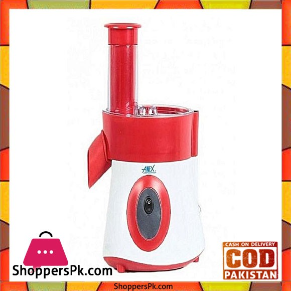 Anex AG-397 - Deluxe Vegetable Slicer & Salad Cutter - Red And White - Karachi Only