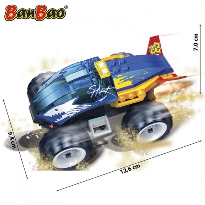 Banbao 8602 Shark Pull Back Auction Racer 66 Pcs