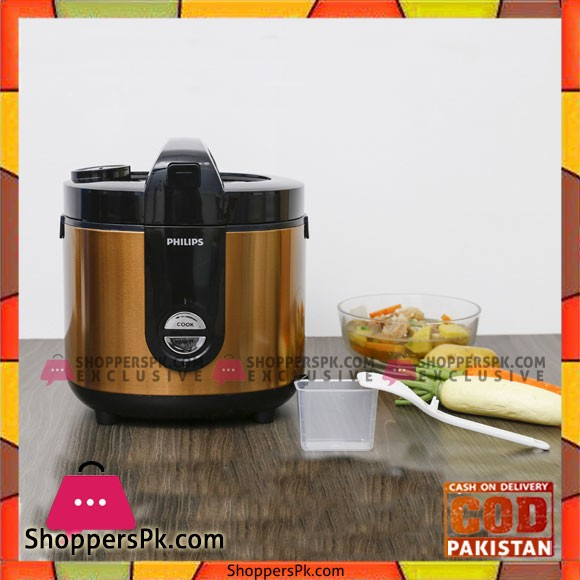 Philips 2 liter rice cooker HD3132 68 Gold - Karachi Only
