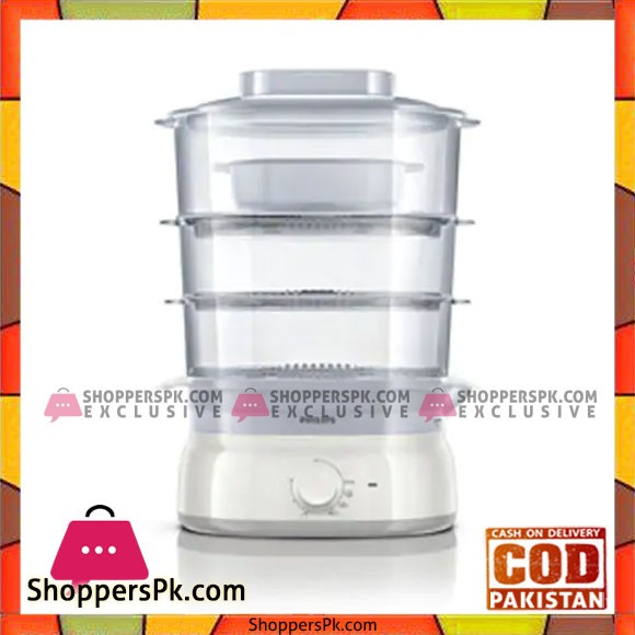 Philips HD9125 00 9 L Food Steamer (White) - Karachi Only