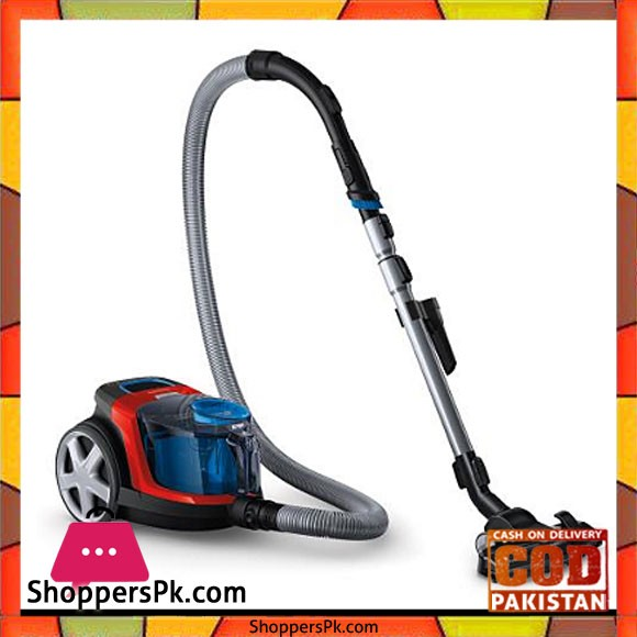 Philips PowerPro Compact FC9351/01 Cylinder vacuum 1.5L 1900W Black,Blue,Grey,Red vacuum - Karachi Only
